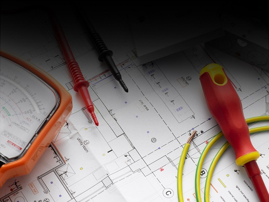 Electrical Equipment Resting On House Plans